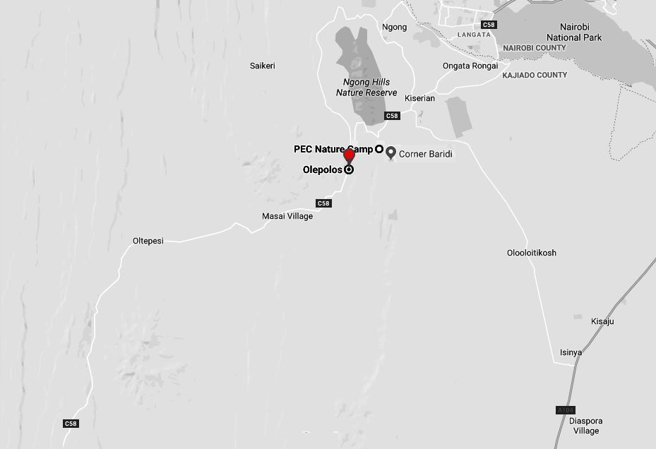 Spatial Location of Ole Polos Country Club in Kajiado County
