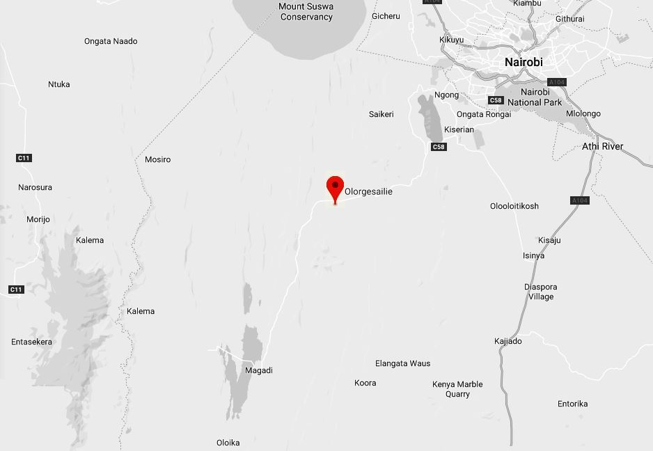 Spatial Location of Olorgesailie Museum and Pre-historic Site in Kajiado County