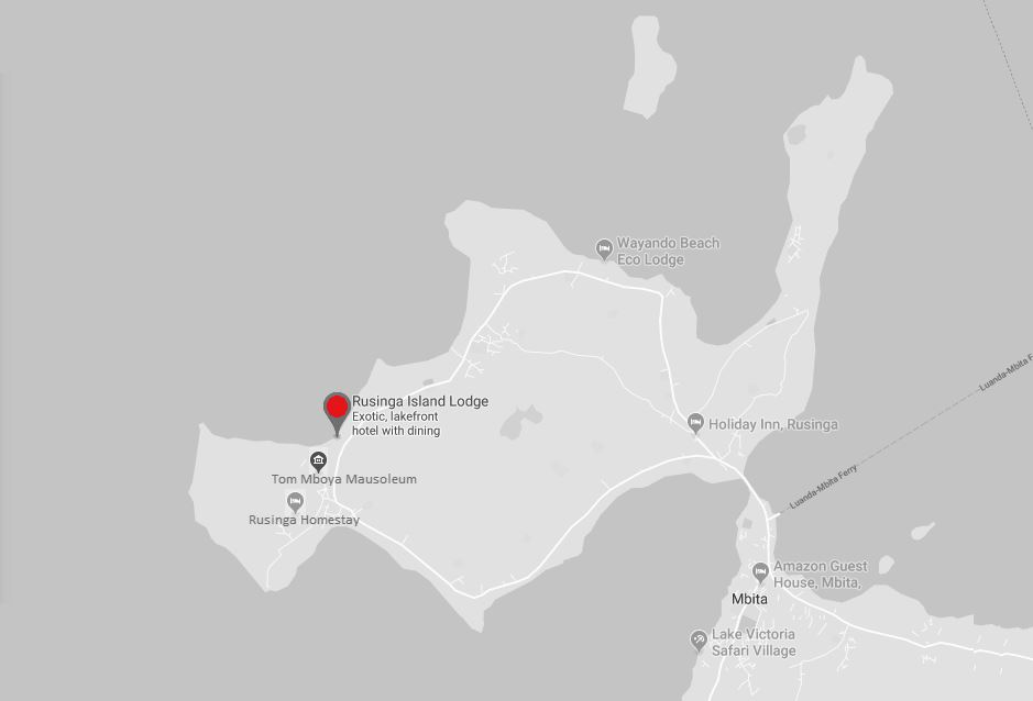 Spatial Location of Rusinga Island Resort in Homa Bay County