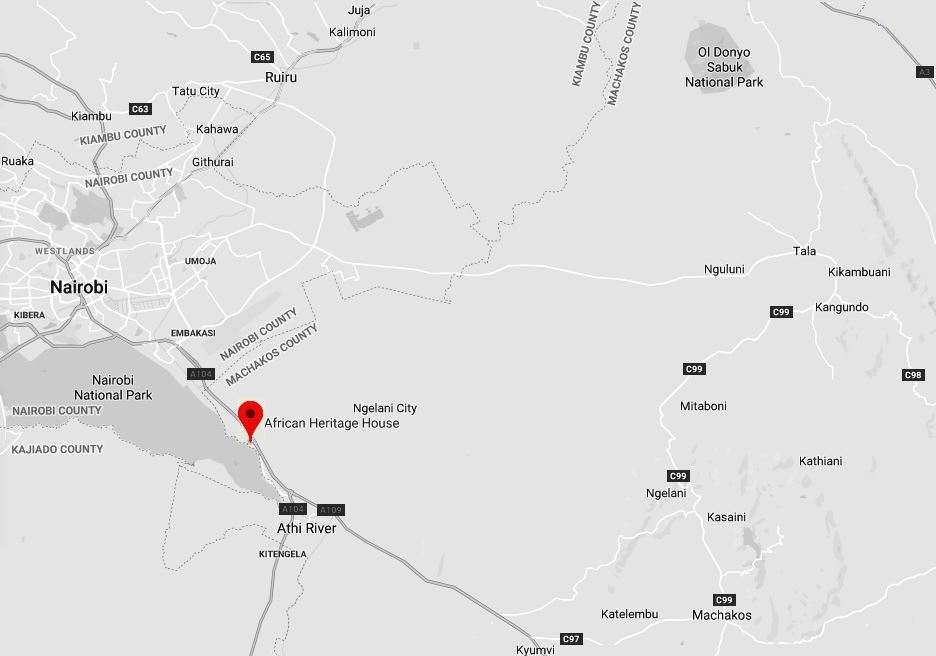 Spatial Location of African Heritage House in Machakos County