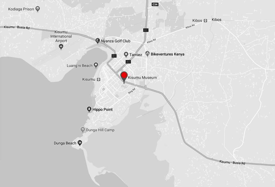 Spatial Location of Kisumu Museum in Kisumu County