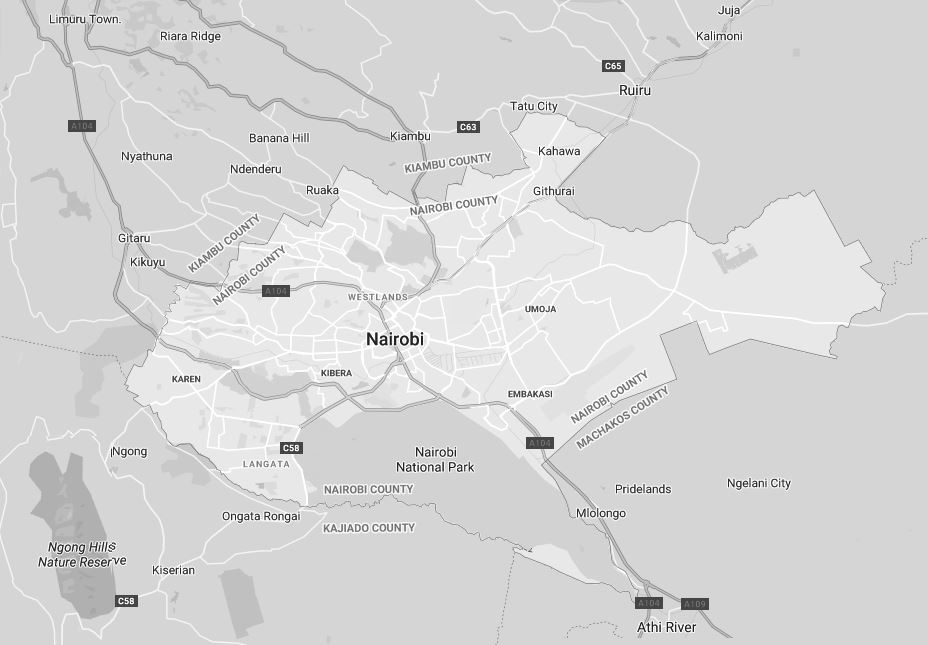 Nairobi County Map
