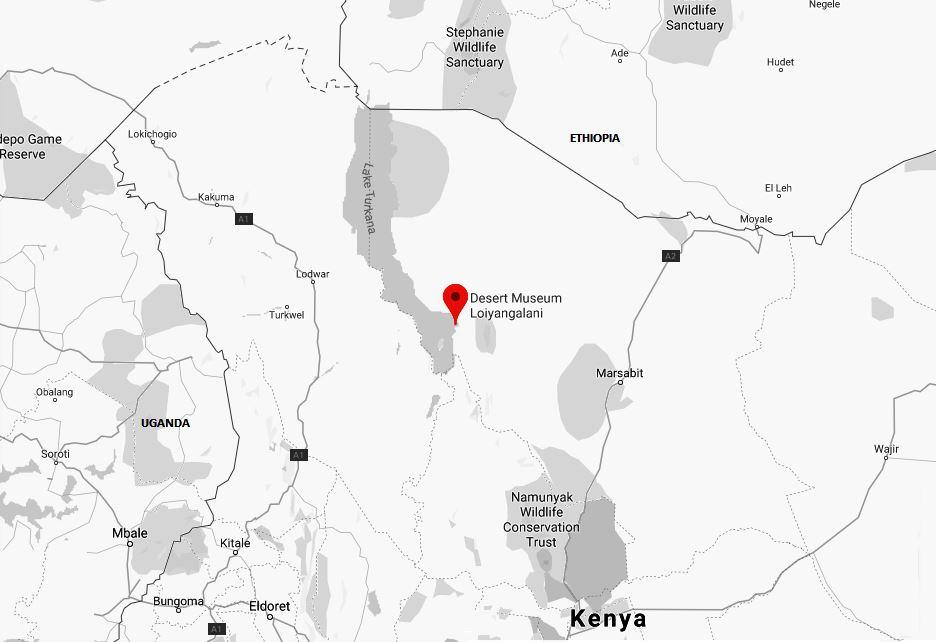 Spatial Location of Desert Museum in Marsabit County