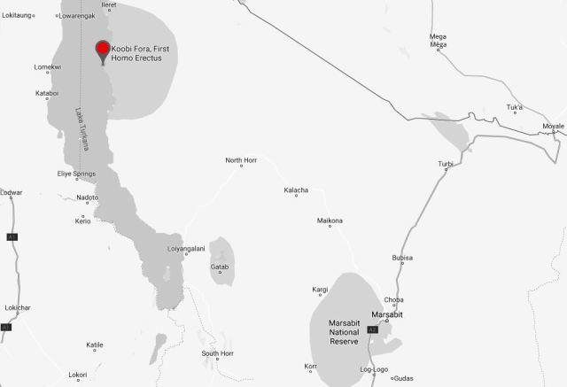 Spatial Location of Koobi Fora Museum in Marsabit County