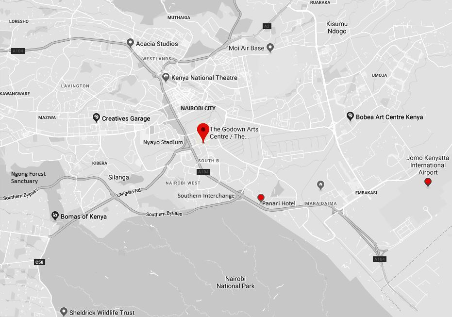 Spatial Location of the Go-Downs Arts Centre in Nairobi County