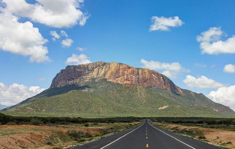 Mount Ololokwe in Samburu County. Image courtesy of Car Rental Kenya