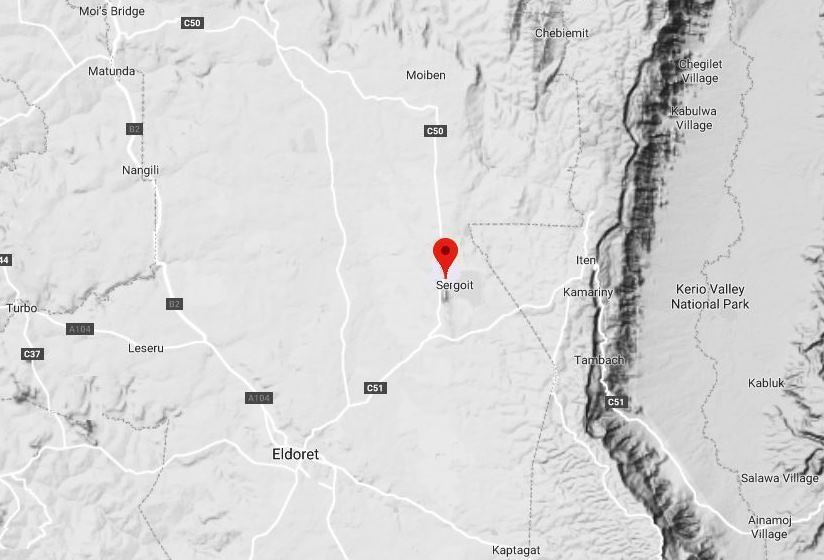 Spatial Location of Sergoit Hill in Uasin Gishu County