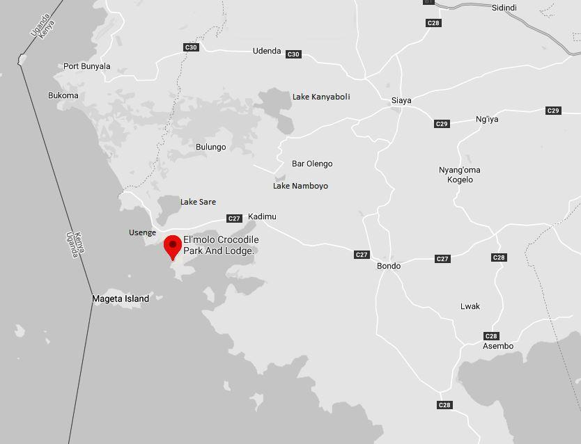 Spatial Location of El Molo Crocodile Park in Siaya County