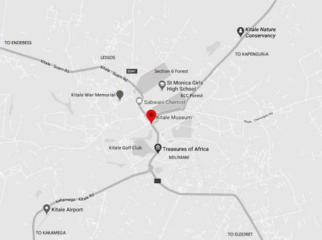 Spatial Location of Kitale Museum in Trans Nzoia County