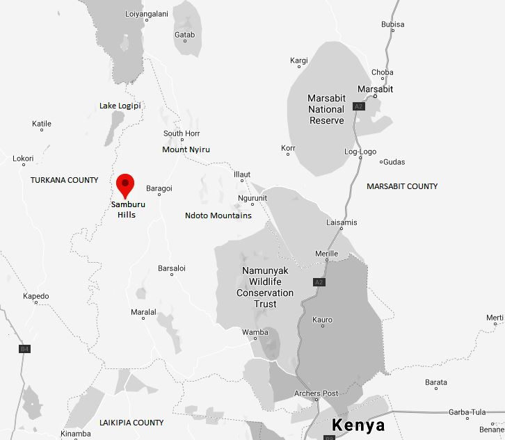 Spatial Location of Samburu Hill in Samburu County