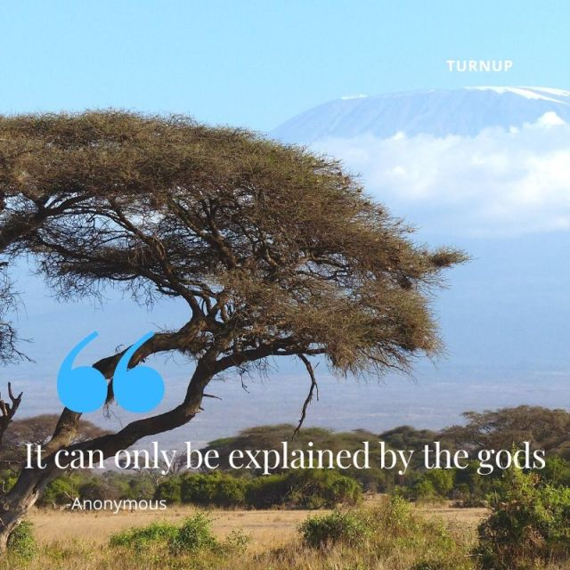 Kenya - It can only be explained by the gods