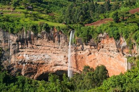 Sipi Falls in Mount Elgon National Park. National Parks and Reserves in Uganda. Image courtesy of Robert Harding
