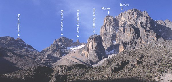 Point Batian on Mount Kenya. Image courtesy of Adventure Alternative