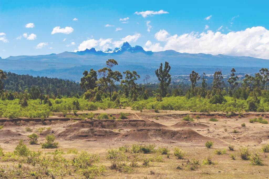 Mount Kenya from a distance. Image courtesy of Adventure Trails