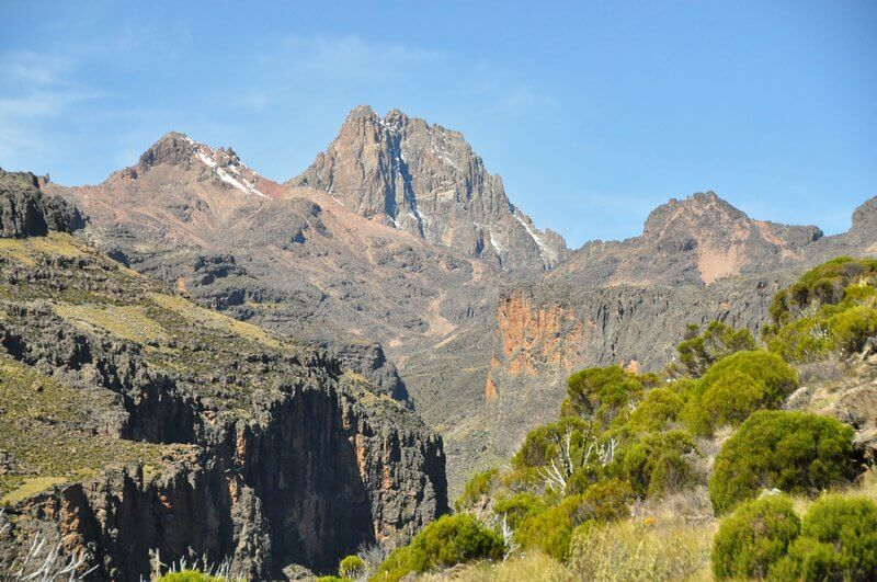 Hiking in Kenya: Scenery on the way up Mount Kenya. Image by Travel Blog