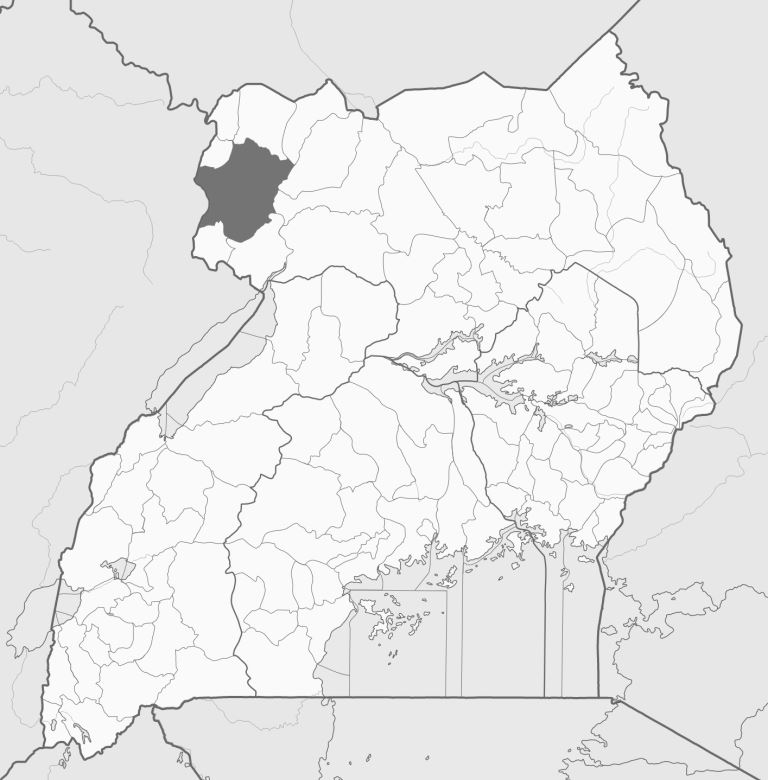Spatial location of Arua: West Nile District in Uganda. Image courtesy of Wikipedia