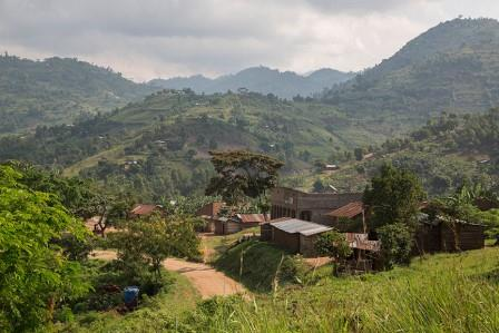 Kinoni village in Kasese District. Image courtesy of Jake Lyell