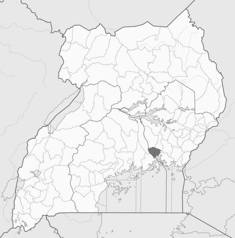 Spatial location of Jinja District in Uganda. Image courtesy of Wikipedia