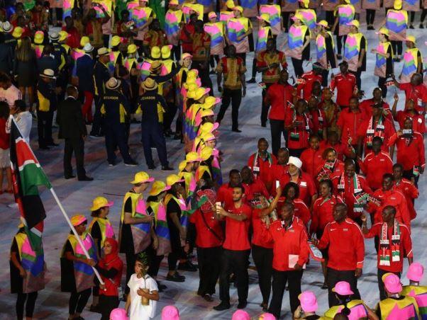 Kenya's Entourage at 2016 Rio Olympic Games. Image Courtesy of All Vibes