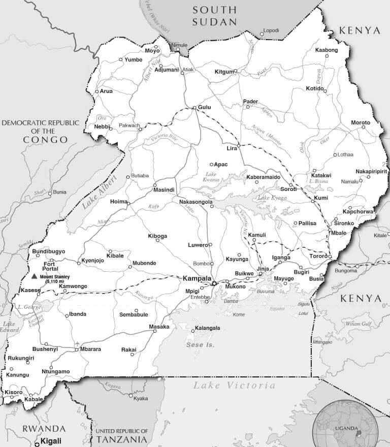 Political Map of Uganda. Image courtesy of nations-online