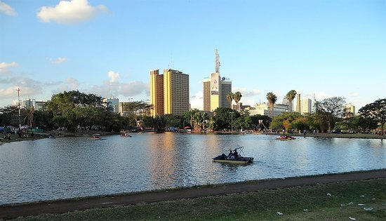 View of a lake within Uhuru Park, Nairobi. Image courtesy of WikiMedia