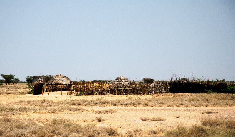 A Typical Turkana Homestead. Image Courtesy of Travel Blog