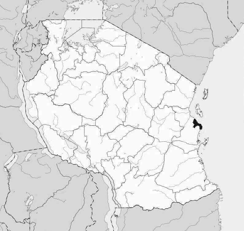 Spatial Location of Dar es Salaam in Tanzania