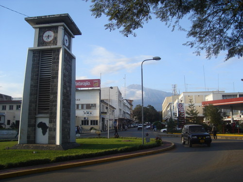 Section of Arusha Town in Tanzania