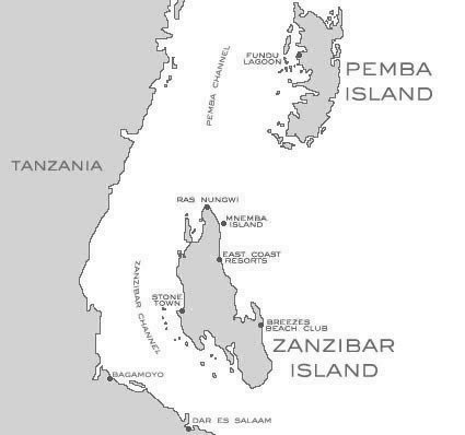 Spatial Location of Pemba and Zanzibar Islands