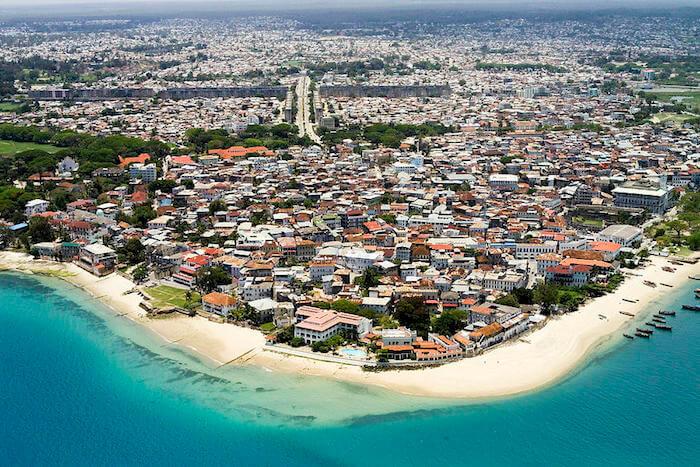 View of Stone Town, Zanzibar Island