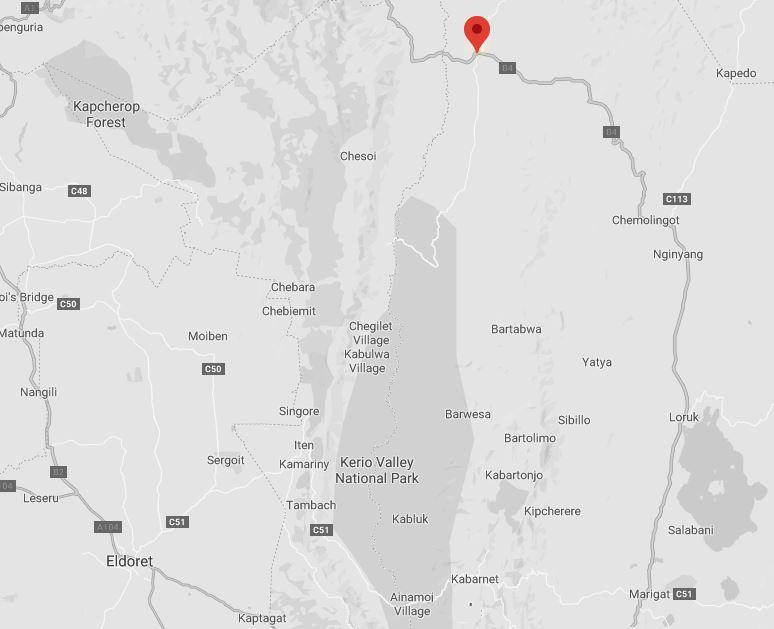 Spatial Location of Kolloa in Baringo County
