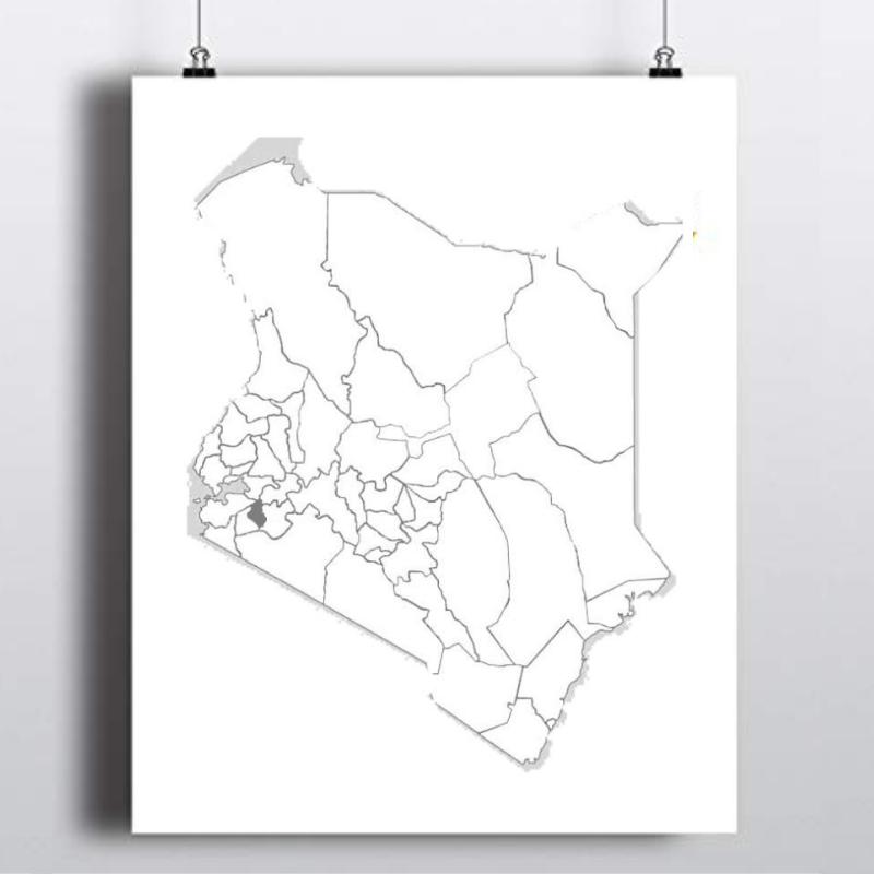Spatial Location of Nyamira County in Kenya