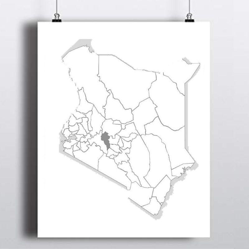 Spatial Location of Nyandarua County in Kenya