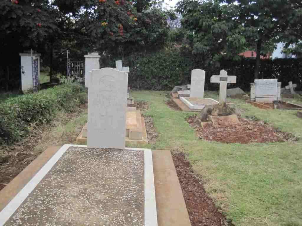 Nyeri Civil Cemetery. War Memorial in Kenya