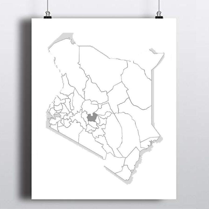Spatial Location of Nyeri County in Kenya