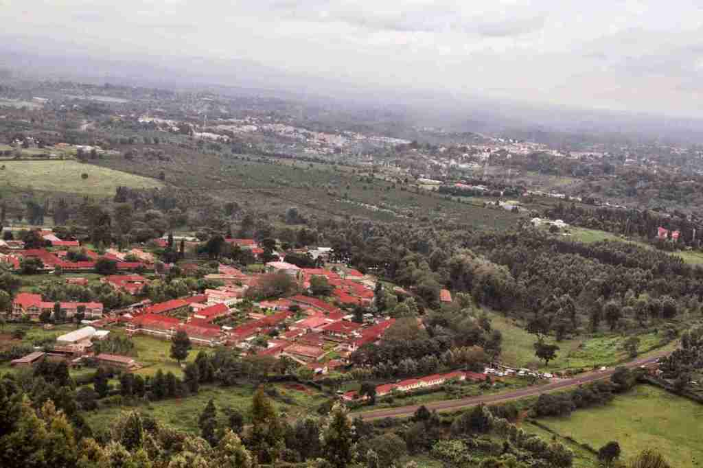 Atop Nyeri Hill Overlooking Nyeri Hill Farm. Image Courtesy of Nyeri Farm
