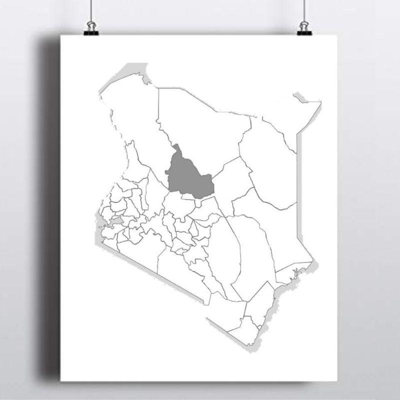 Spatial Location of Samburu County in Kenya