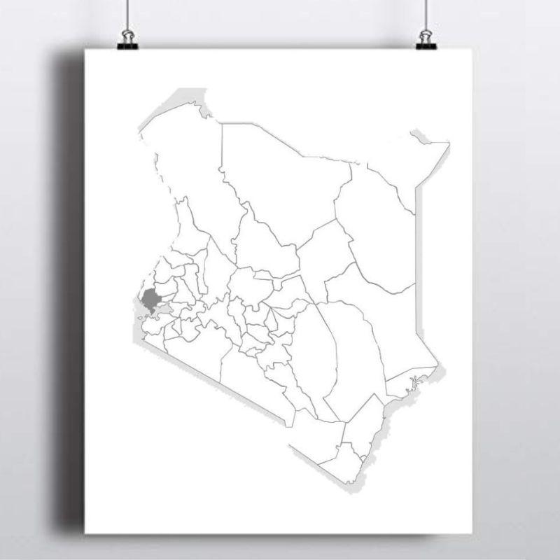 Spatial Location of Siaya County in Kenya