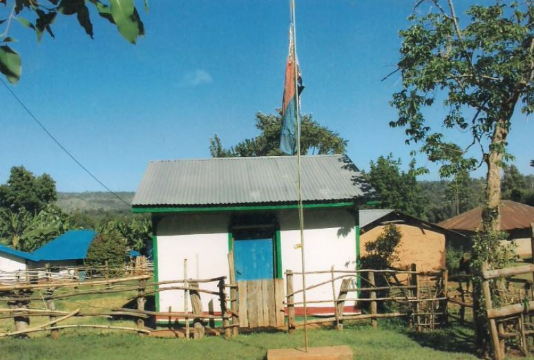 Mausoleum of James Chabuga Lilege at his home in Gamalenga