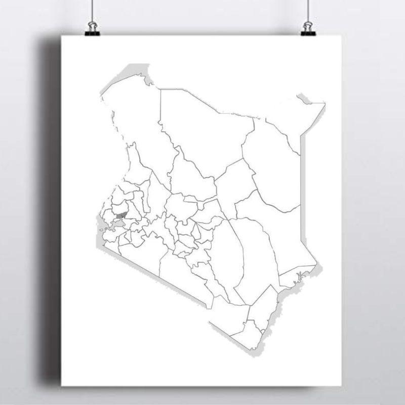 Spatial Location of Vihiga County in Kenya