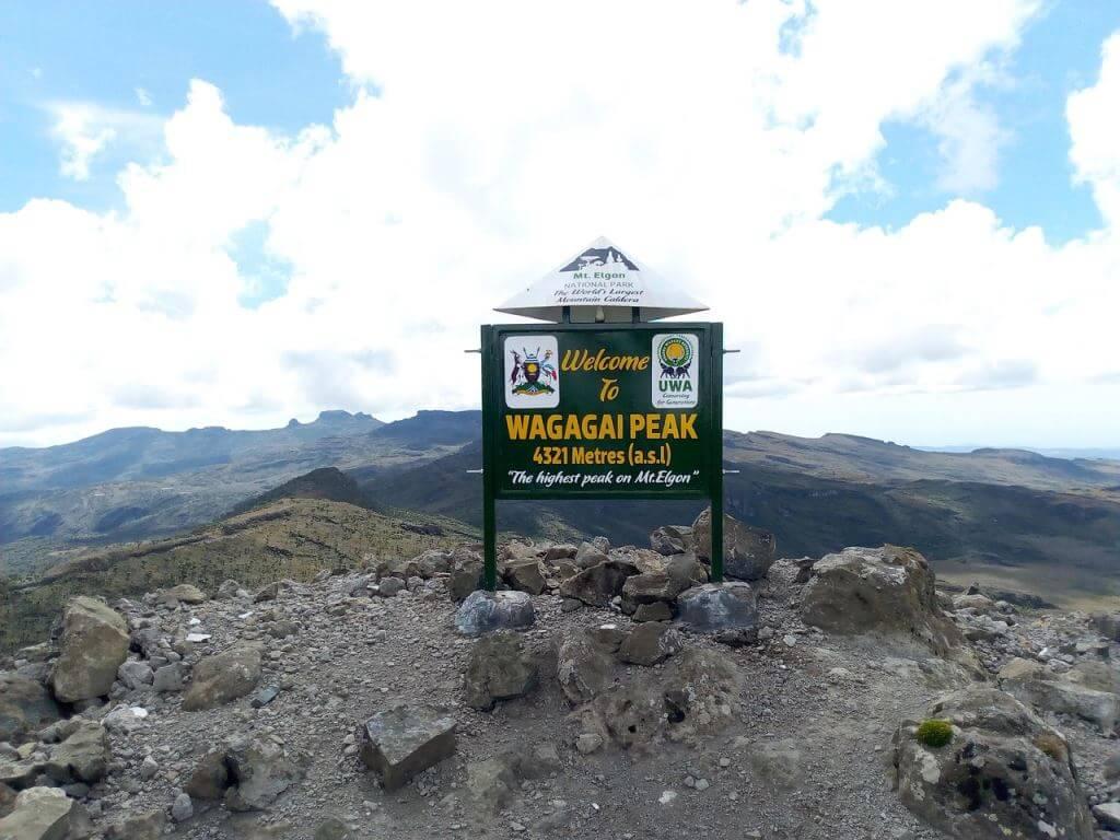 Wagagai Peak in Mount Elgon National Park