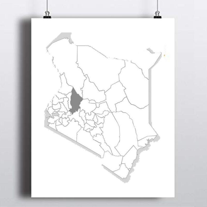 Spatial Location of Baringo County in Kenya