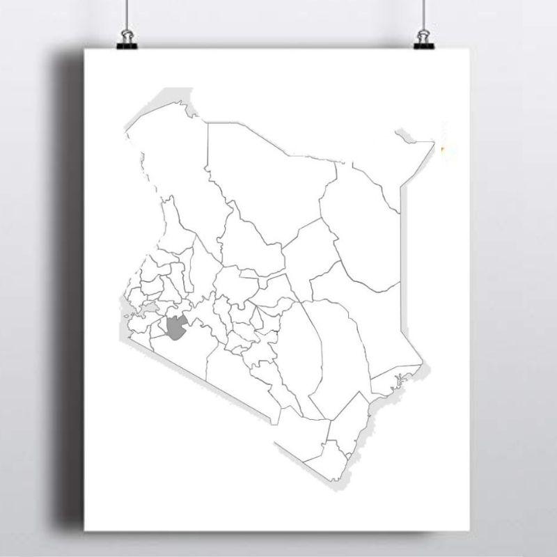 Spatial Location of Bomet County in Kenya