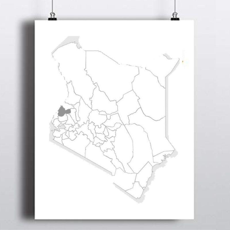 Spatial Location of Bungoma County in Kenya
