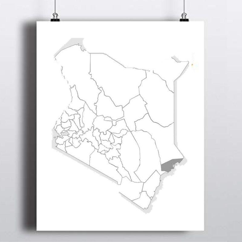 Spatial Location of Lamu County in Kenya
