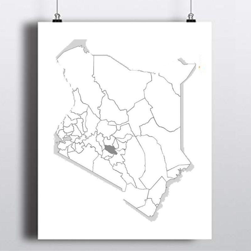 Spatial Location of Muranga County in Kenya