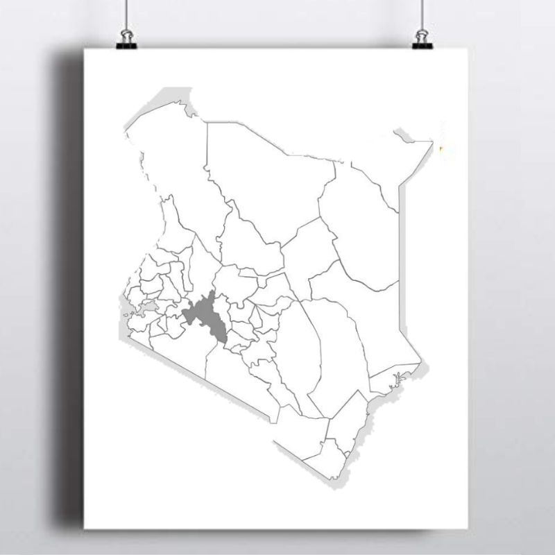 Spatial Location of Nakuru County in Kenya