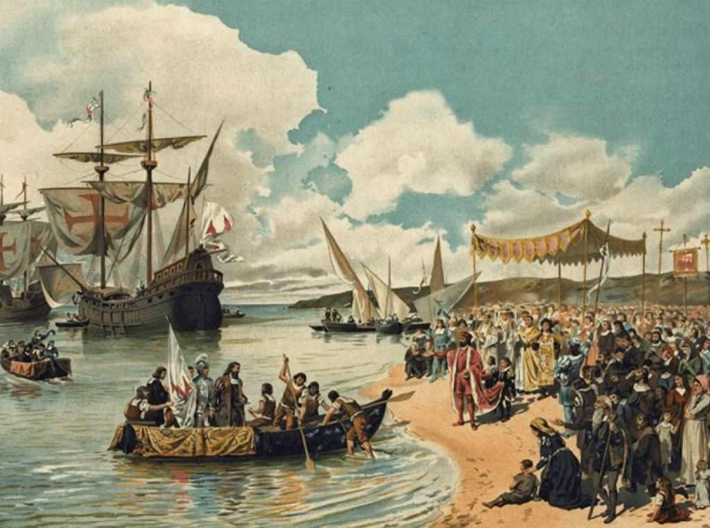 Vasco da Gama Leaving Portugal. Image Courtesy of Learnodo-newtonic