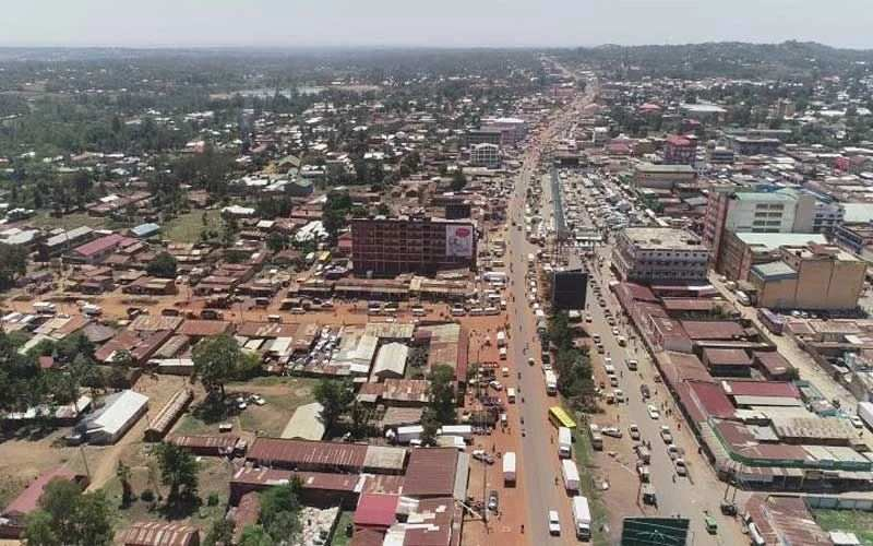 An Aerial View of Bungoma Town. Image Courtesy of The Standard