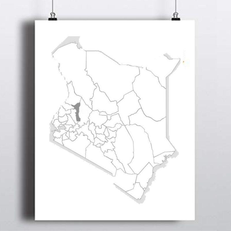 Spatial Location of Elgeyo Marakwet County in Kenya